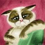 grumpy cat by peileppe dgqv